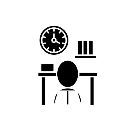 Bureaucracy black icon, concept vector sign on isolated background. Bureaucracy illustration, symbol