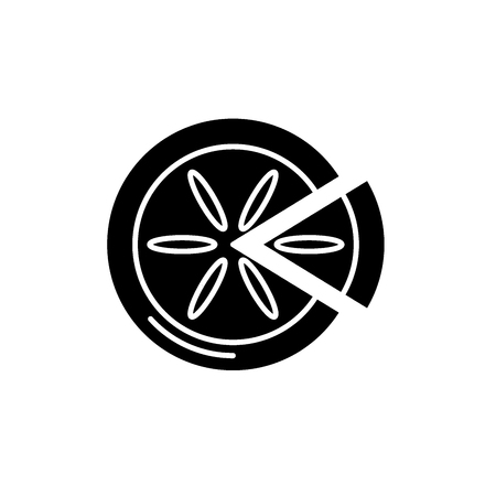 Winter cake black icon, concept vector sign on isolated background. Winter cake illustration, symbol Illustration