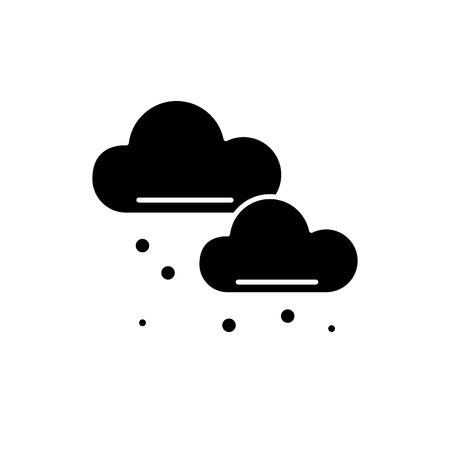 Snow clouds black icon, concept vector sign on isolated background. Snow clouds illustration, symbol