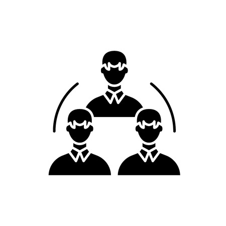 Research department black icon, concept vector sign on isolated background. Research department illustration, symbol
