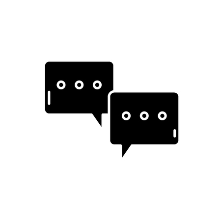 Symposium black icon, concept vector sign on isolated background. Symposium illustration, symbol