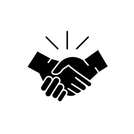 Arrangement black icon, concept vector sign on isolated background. Arrangement illustration, symbol