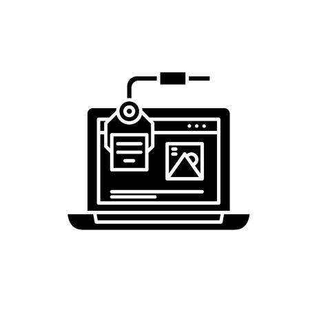 Digital design black icon, concept vector sign on isolated background. Digital design illustration, symbol Illustration