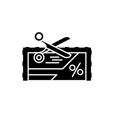 Loyalty program black icon, concept vector sign on isolated background. Loyalty program illustration, symbol