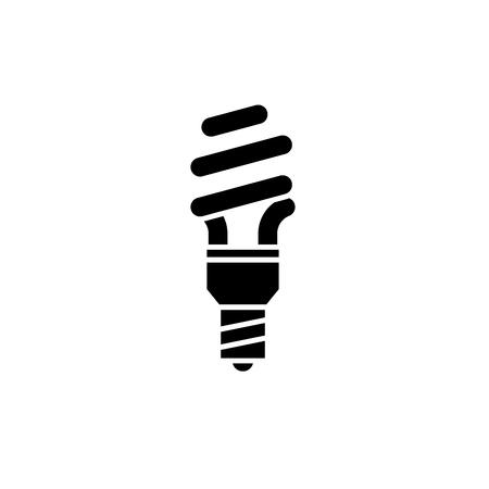 Energy saving black icon, concept vector sign on isolated background. Energy saving illustration, symbol Standard-Bild - 127266707