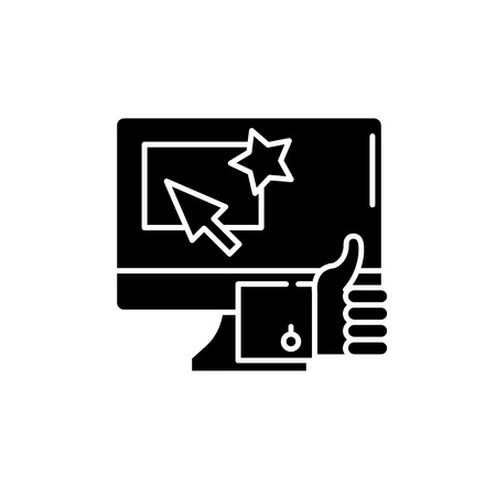 Great choice black icon, concept vector sign on isolated background. Great choice illustration, symbol Иллюстрация