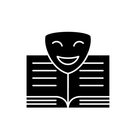 Comedy black icon, concept vector sign on isolated background. Comedy illustration, symbol Banque d'images - 127266892
