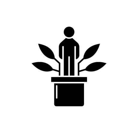 Personal development black icon, concept vector sign on isolated background. Personal development illustration, symbol Reklamní fotografie - 112777377