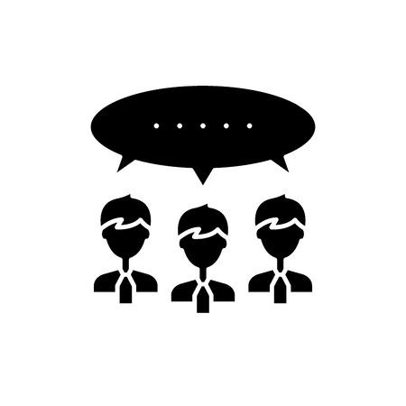 Argumentation black icon, concept vector sign on isolated background. Argumentation illustration, symbol Иллюстрация