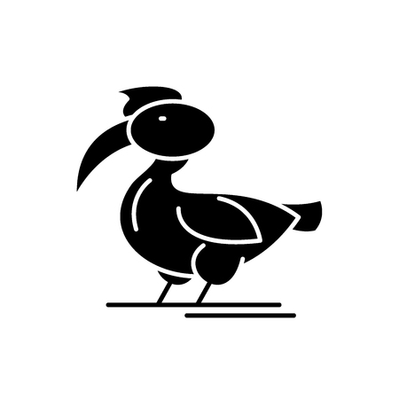 Pelican black icon, concept vector sign on isolated background. Pelican illustration, symbol