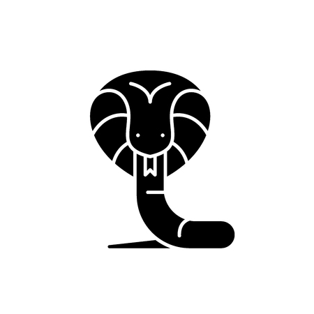 Boa black icon, concept vector sign on isolated background. Boa illustration, symbol Illustration