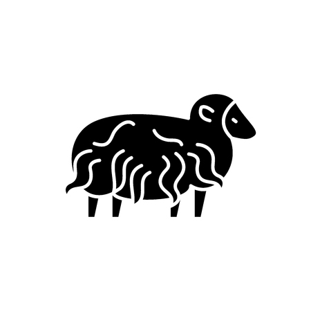 Ram black icon, concept vector sign on isolated background. Ram illustration, symbol