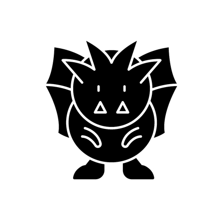 Horror black icon, concept vector sign on isolated background. Horror illustration, symbol 向量圖像