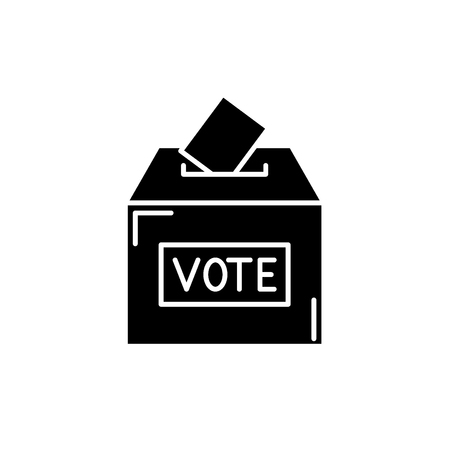 Vote black icon, concept vector sign on isolated background. Vote illustration, symbol