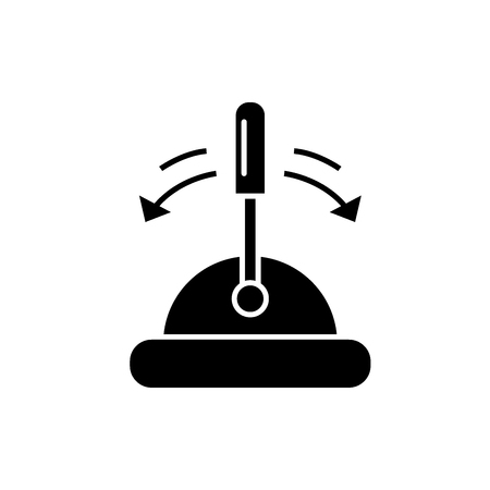 Toggle switch black icon, concept vector sign on isolated background. Toggle switch illustration, symbol