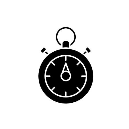 Chronoscope black icon, concept vector sign on isolated background. Chronoscope illustration, symbol