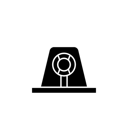Signal light black icon, concept vector sign on isolated background. Signal light illustration, symbol