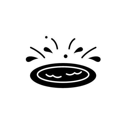 Home Kinderpool schwarzes Symbol, Konzeptvektorzeichen auf isoliertem Hintergrund. Kinderpoolillustration, Symbol