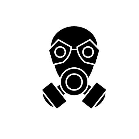 Mask black icon, concept vector sign on isolated background. Mask illustration, symbol Vektoros illusztráció