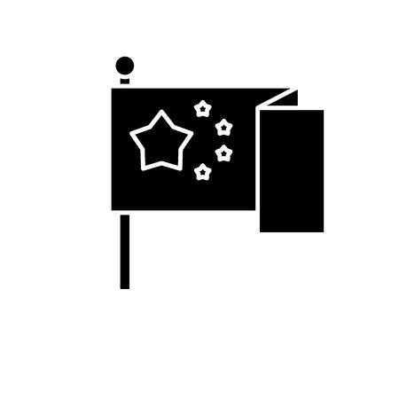 Eu flag black icon, concept vector sign on isolated background. Eu flag illustration, symbol