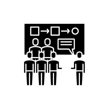 Customer segmentation black icon, concept vector sign on isolated background. Customer segmentation illustration, symbol