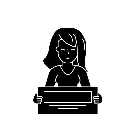 Big cash win black icon, concept vector sign on isolated background. Big cash win illustration, symbol