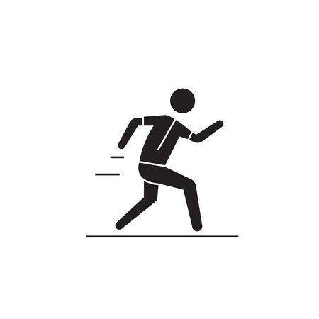 Active lifestyle black vector concept icon. Active lifestyle flat illustration, sign, symbol