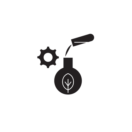 Agriculture science black vector concept icon. Agriculture science flat illustration, sign, symbol