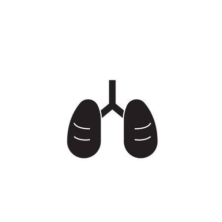 Asthma black vector concept icon. Asthma flat illustration, sign, symbol