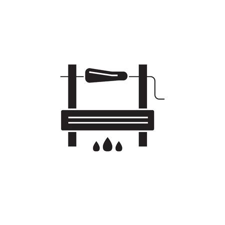 Bbg cooking black vector concept icon. Bbg cooking flat illustration, sign, symbol