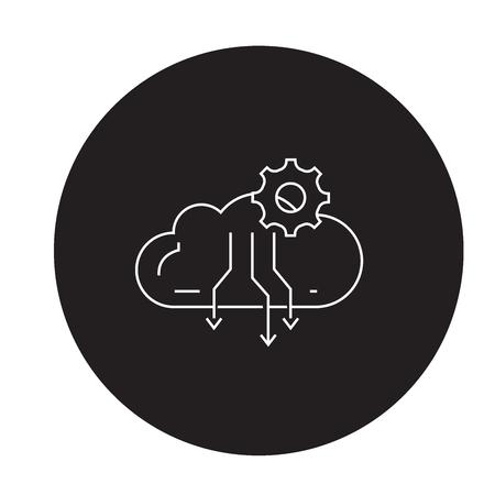 Atmospheric condensation process black vector concept icon. Atmospheric condensation process flat illustration, sign, symbol