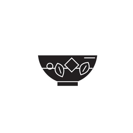 Blanching vegetables black vector concept icon. Blanching vegetables flat illustration, sign, symbol
