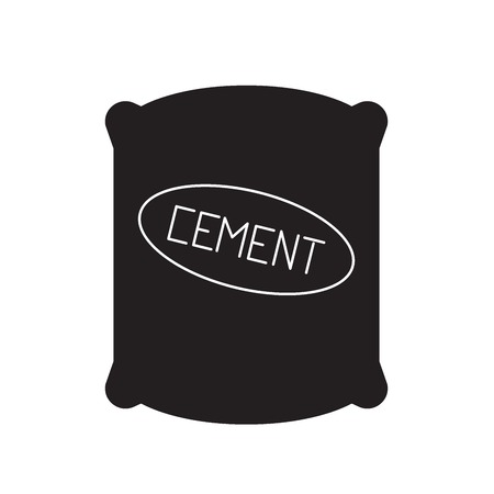 Cement sack black vector concept icon. Cement sack flat illustration, sign, symbol