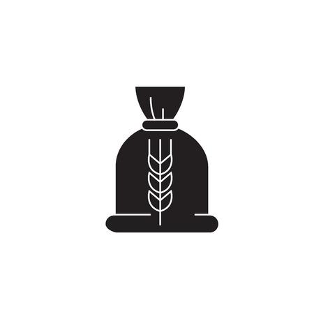 Ceral bag black vector concept icon. Ceral bag flat illustration, sign, symbol Stok Fotoğraf - 126905902