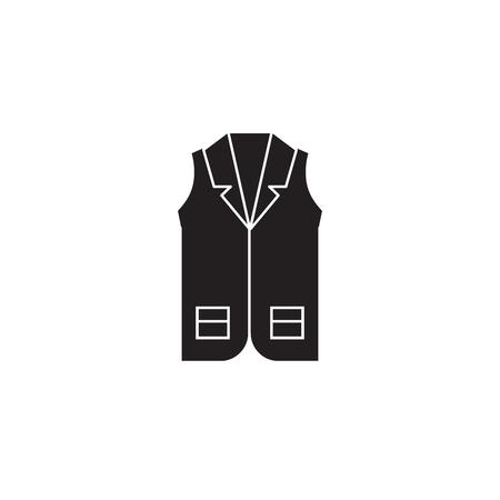 Business vecst black vector concept icon. Business vecst flat illustration, sign, symbol