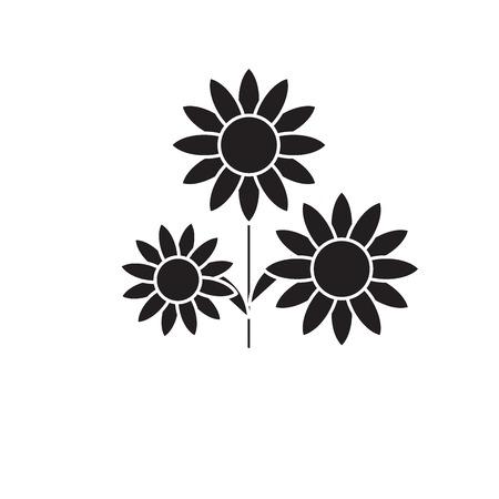 Buttercup black vector concept icon. Buttercup flat illustration, sign, symbol Standard-Bild - 113609889