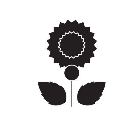 Carnation black vector concept icon. Carnation flat illustration, sign, symbol