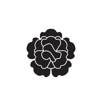 Carnation black vector concept icon. Carnation flat illustration, sign, symbol