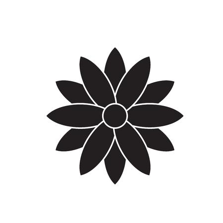 Calendula black vector concept icon. Calendula flat illustration, sign, symbol