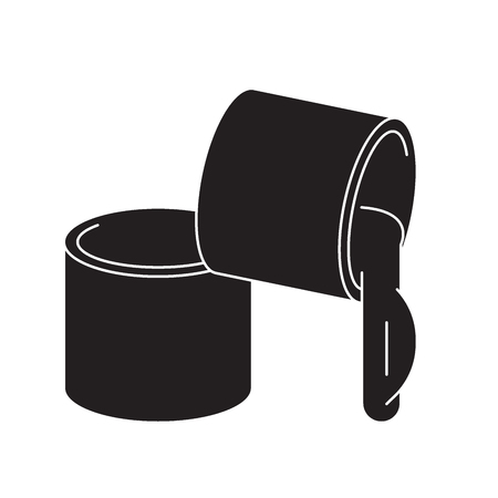 Grease, lubricant black vector concept icon. Grease, lubricant flat illustration, sign, symbol Çizim