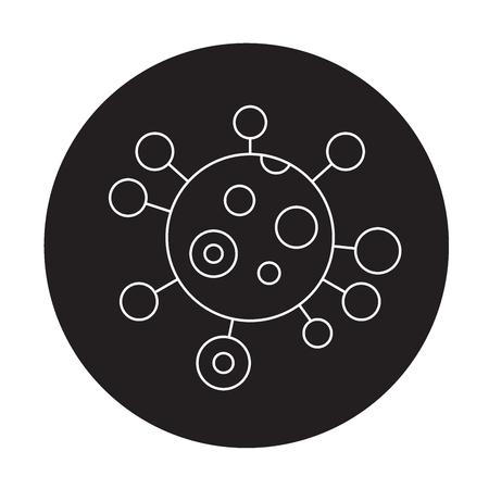 Genotype black vector concept icon. Genotype flat illustration, sign, symbol Illustration