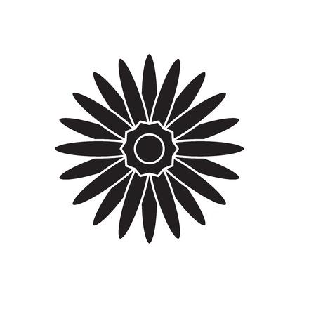 Gerbera black vector concept icon. Gerbera flat illustration, sign, symbol Illustration
