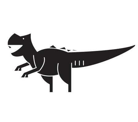 Giganotosaurus black vector concept icon. Giganotosaurus flat illustration, sign, symbol