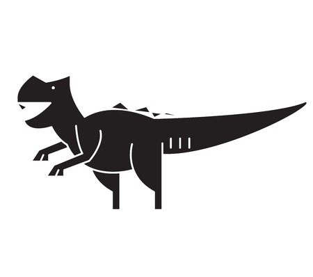 Giganotosaurus black vector concept icon. Giganotosaurus flat illustration, sign, symbol