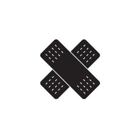 Glue sticking, open wound black vector concept icon. Glue sticking, open wound flat illustration, sign, symbol Illustration