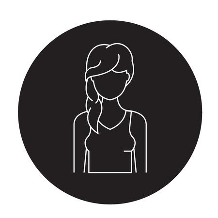 Hair loss black vector concept icon. Hair loss flat illustration, sign, symbol Ilustracja