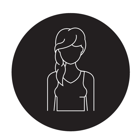 Hair loss black vector concept icon. Hair loss flat illustration, sign, symbol Illustration