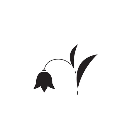 Harebell black vector concept icon. Harebell flat illustration, sign, symbol  イラスト・ベクター素材