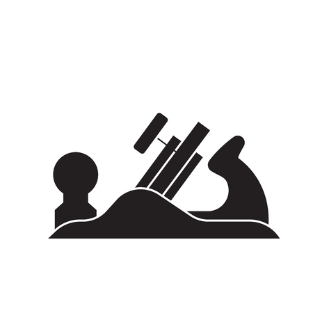 Icône de concept de vecteur noir avion Jack. Jack avion télévision illustration, signe, symbole Vecteurs