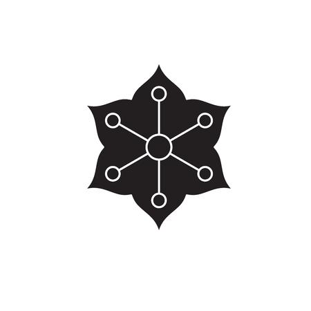 Jasmine black vector concept icon. Jasmine flat illustration, sign, symbol